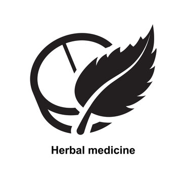 Herbal medicine icon isolated on white background vector illustration.