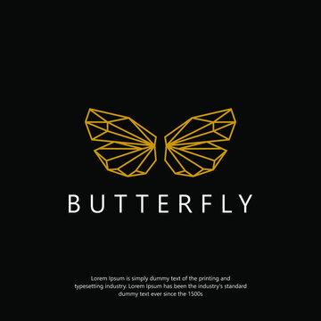 Butterfly monoline elegant logo tamplate Design