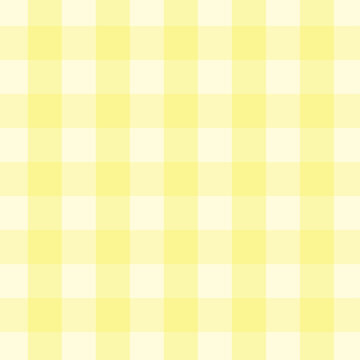 Yellow gingham seamless pattern vector background