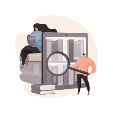 Public library abstract concept vector illustration.