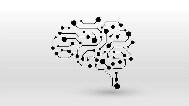 Brain circuit ai tech concept icon