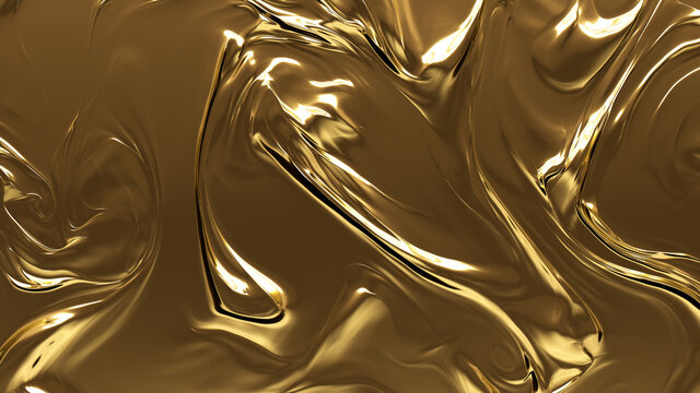 Opulent, Smooth, Metallic texture. A Golden surface for Gold, Luxurious Backgrounds.