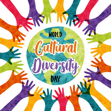 Cultural Diversity colorful diverse people card