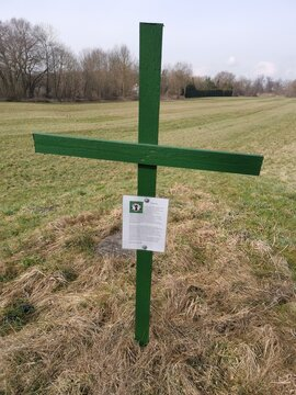 Grünes Kreuz als Aktionszeichen zur Anerkennung der Leistung der Landwirtschaft