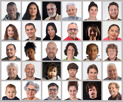 mosaic of real people of all ages