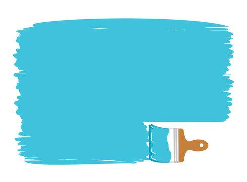 paint brush stroke frame, banner vector illustration isolated