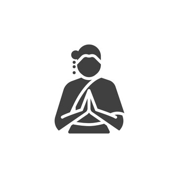 Thai woman vector icon