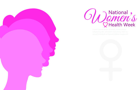 National Women's Health Week ,Vector Illustration.