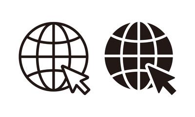 Globe icon, Go to web icon symbol vector. web icon vector - fototapety na wymiar