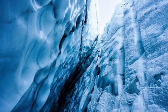 Abstract photograph of the Matanuska Glacier in Alaska