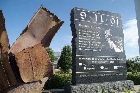 O'FALLON, UNITED STATES - Jun 30, 2008: 9-11 Memorial at O'Fallon, Missouri