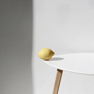 Minimalistic shot of Lemon