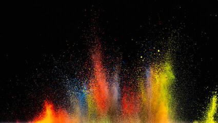 Fototapeta The bright colorful powder explosion obraz