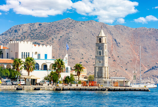 Clock tower in Symi, Dodecanese islands, Greece