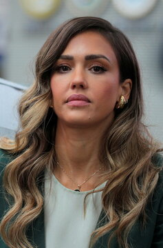 Jessica Alba, actor and businesswoman, attends the IPO of her company, The Honest Company in New York