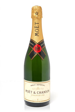July 5th, 2011: Bottle of Moet & Chandon champagne. Studio shot isolated on white