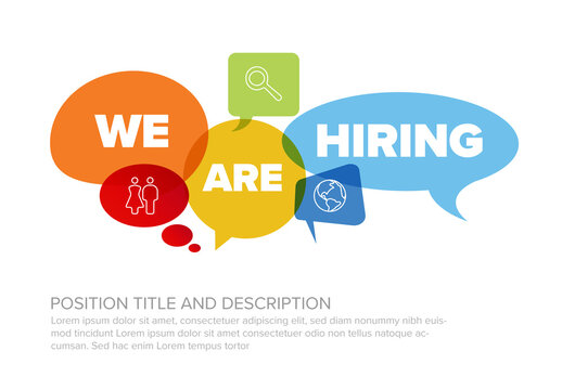 We Are Hiring Minimalistic Flyer Layout