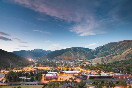 Landscape image of Park City, Utah with fall color.