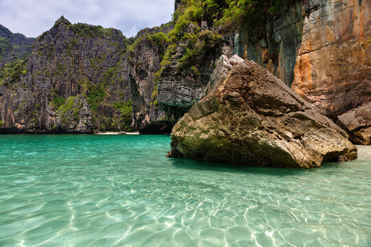 Crystal clear waters off Phuket, Thailand.