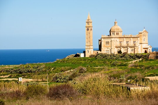 The Assumption of the Blessed Virgin Mary church in Ta' Pinu, Garb, on the island of Gozo, Malta.
