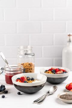 Yogurt with fruit and granola