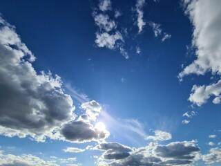 Fototapeta słoneczne niebo obraz