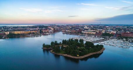 Tervasaari island and Helsinki cityscape 02