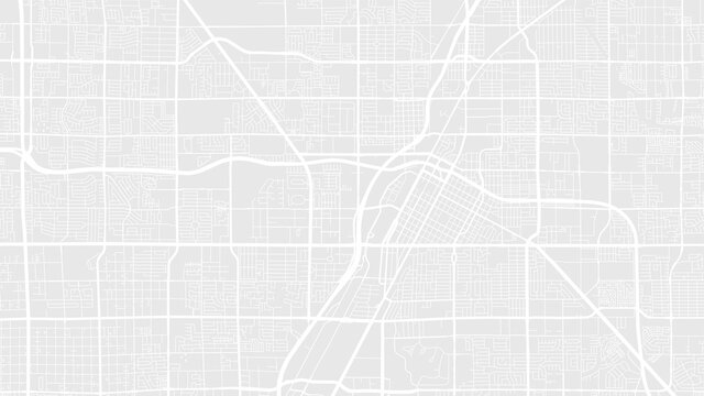 Light grey and white Las Vegas city area vector background map, streets and water cartography illustration.