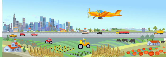City and Farm