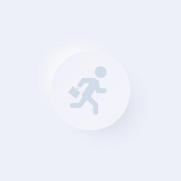 Businessman Running - Sticker