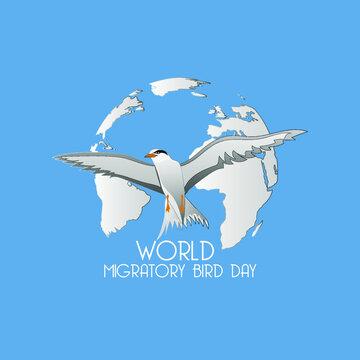 world migratory bird day web banner design concept. illustration vector