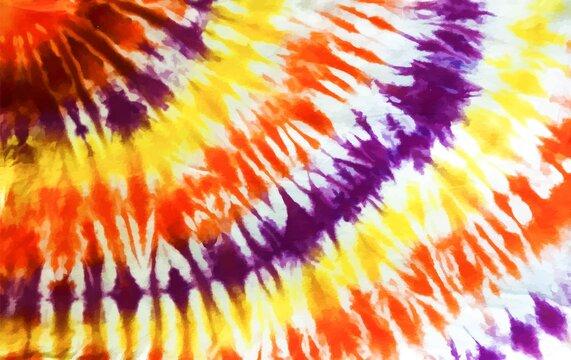 Tie dye background Geometric pattern texture Vector illustration Shibori Abstract batik brush seamless and repeat pattern design Spiral Swirl Kaleidoscope Rainbow Bright Red Yellow