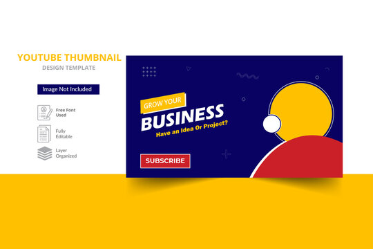 Business marketing agency youtube thumbnail & video thumbnail template design