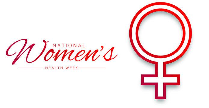 National Women's Health week vector illustration.