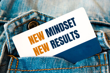 New mindset make new results