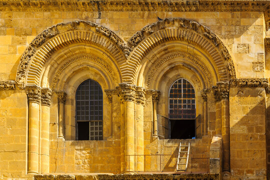 Facade of the Holy Sepulchre church, Jerusalem