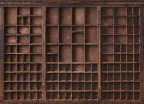 Antique wooden printer tray