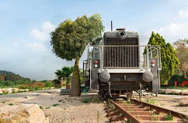 beautiful locomotive on the old Jezreel Railroad
