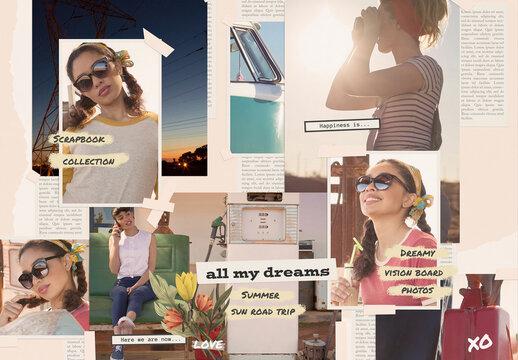 Scrapbook Collage Moodboard