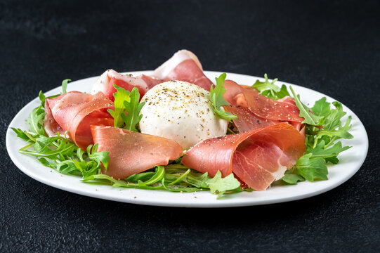 Antipasto with prosciutto and mozzarella