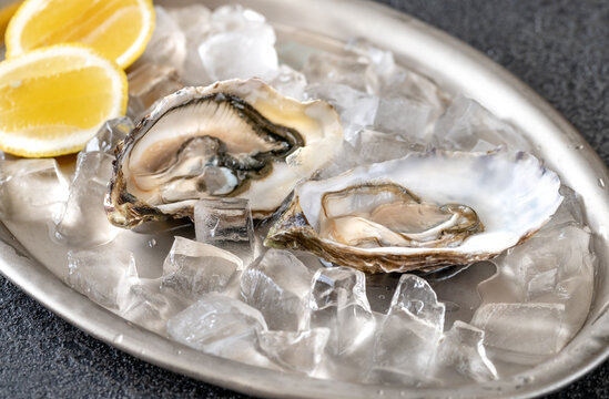 Oysters with fresh lemon