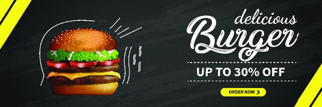 burger web banner design