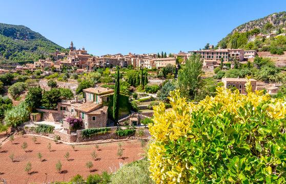 Valldemossa village panorama, Mallorca island, Spain