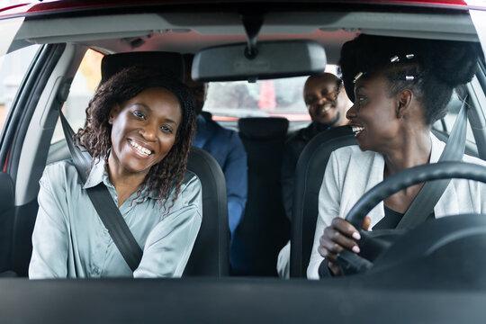 Carpool Ride Sharing. African People