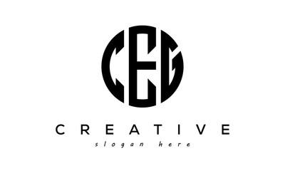 Obraz Letters CEG creative circle logo design vector - fototapety do salonu