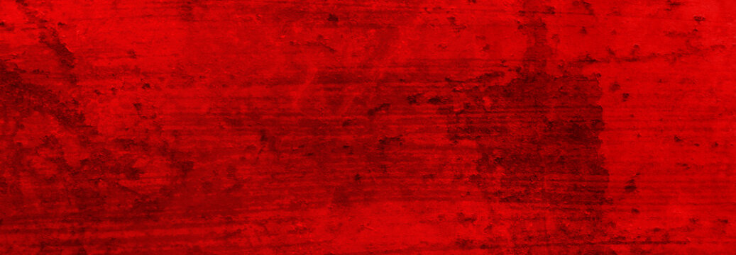Red background texture grunge. Old vintage Christmas red color of peeling paint and textured rusted background. Antique barn wood texture.