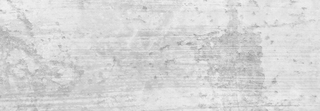 White background texture grunge. Old vintage gray colors of peeling paint and textured rusted background. Antique white barn wood texture.