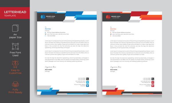 Modern Letterhead Design Template for your Business