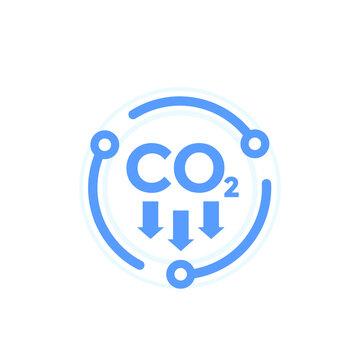 carbon dioxide emissions, reduce co2 emission icon