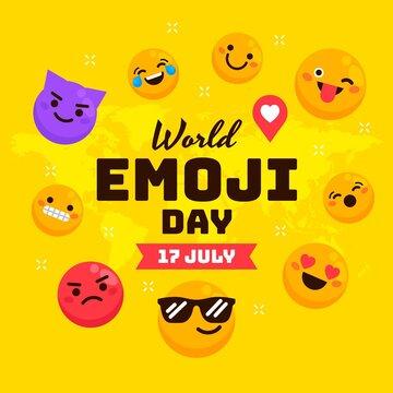 World emoji day Background illustration